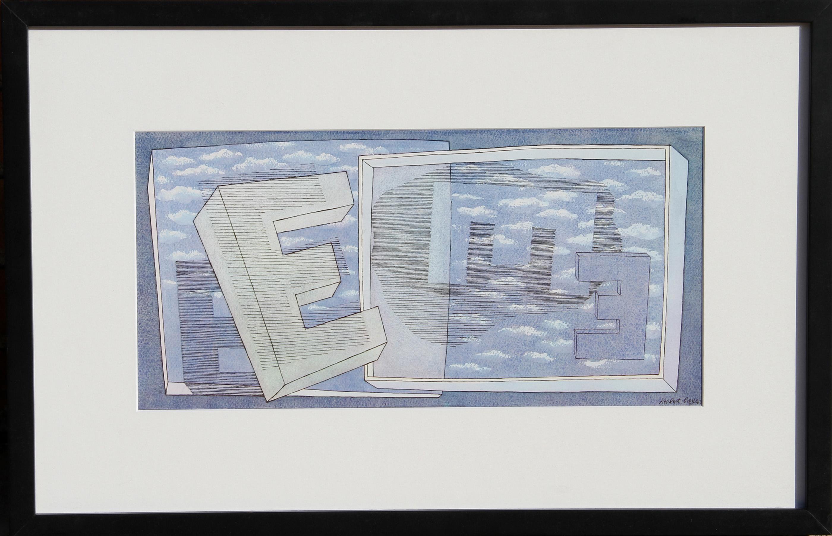 Herbert Bayer, Tender Picture E, Offset Lithograph