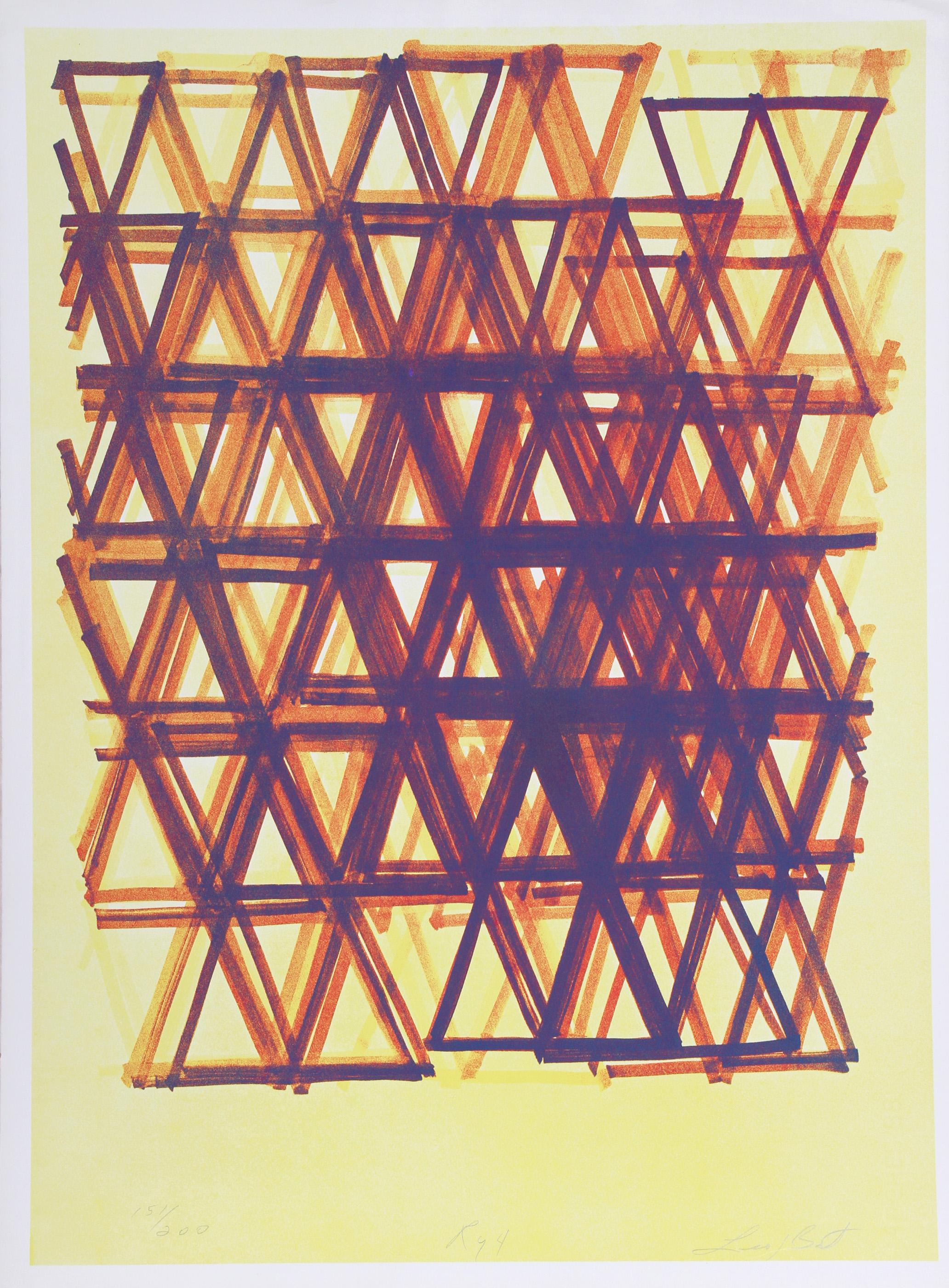 Leo Bates, Rhythm Series IV, Screenprint
