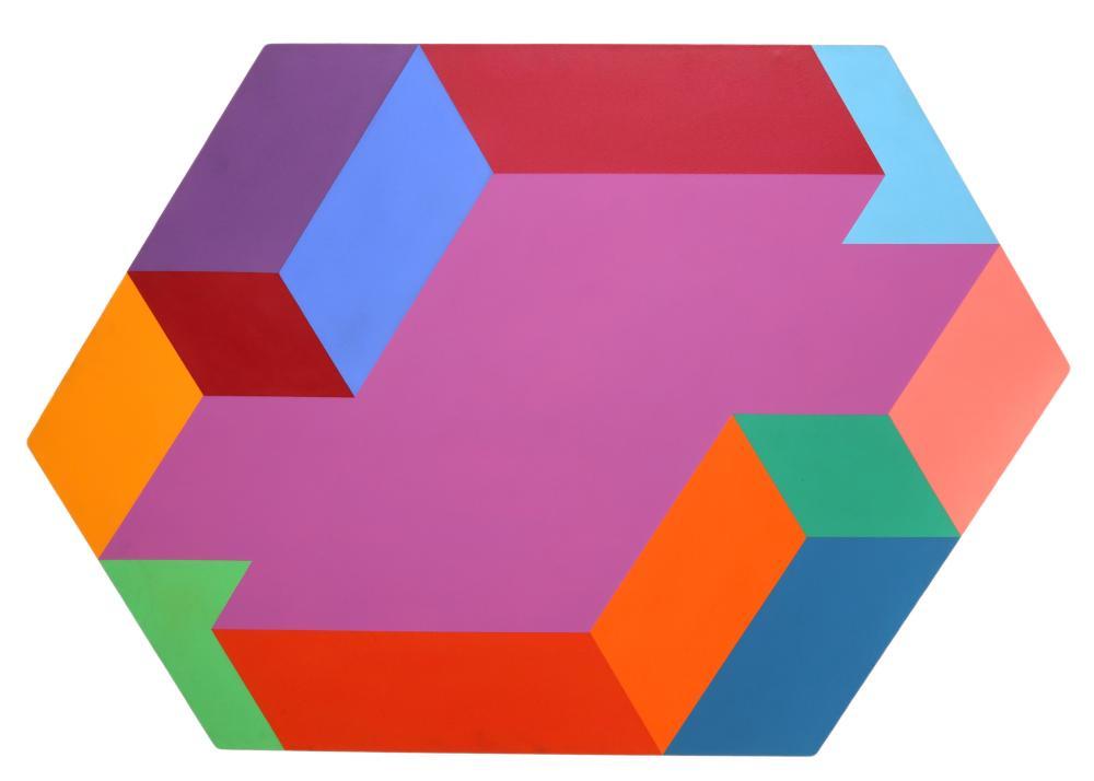Arthur Boden, Hexagon, Acrylic Painting