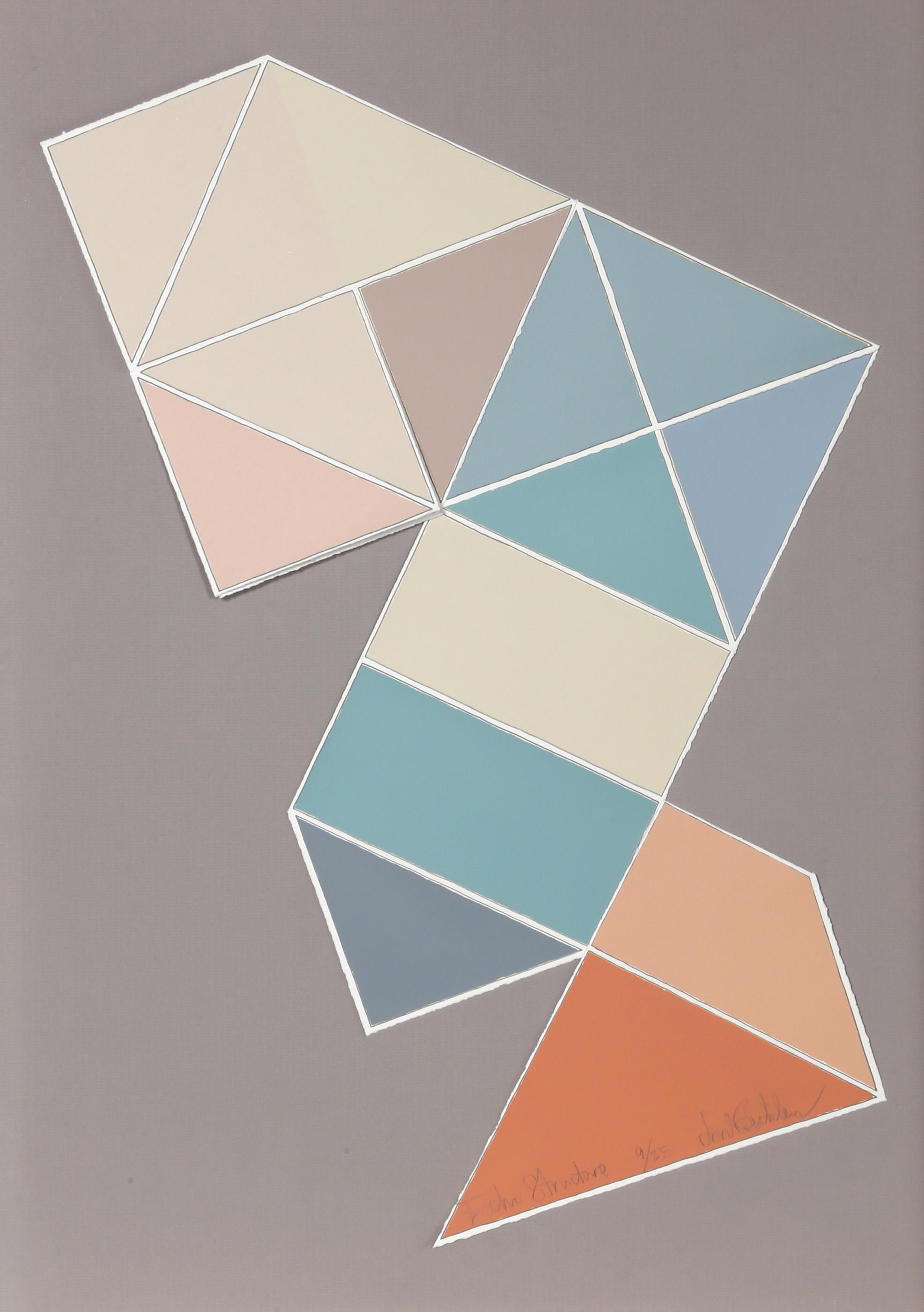 Jon Beckley, Echo Structure, Screenprint and Collage Multiple