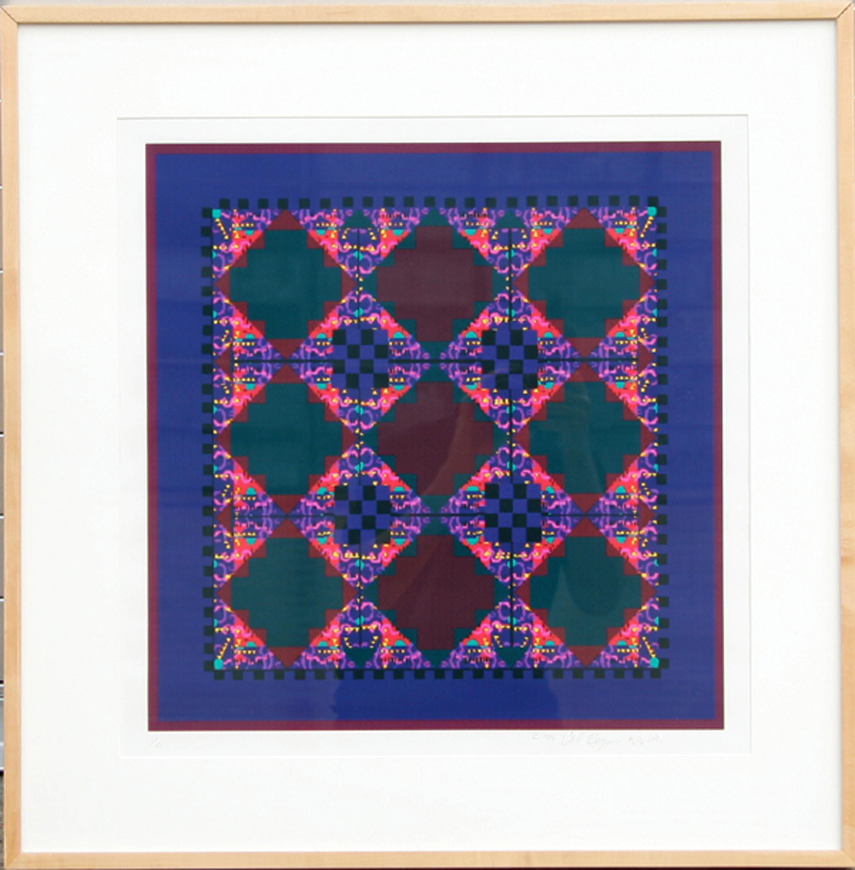 Carol Bouyoucos, Visual Chemistry - Textile III, Digital Print