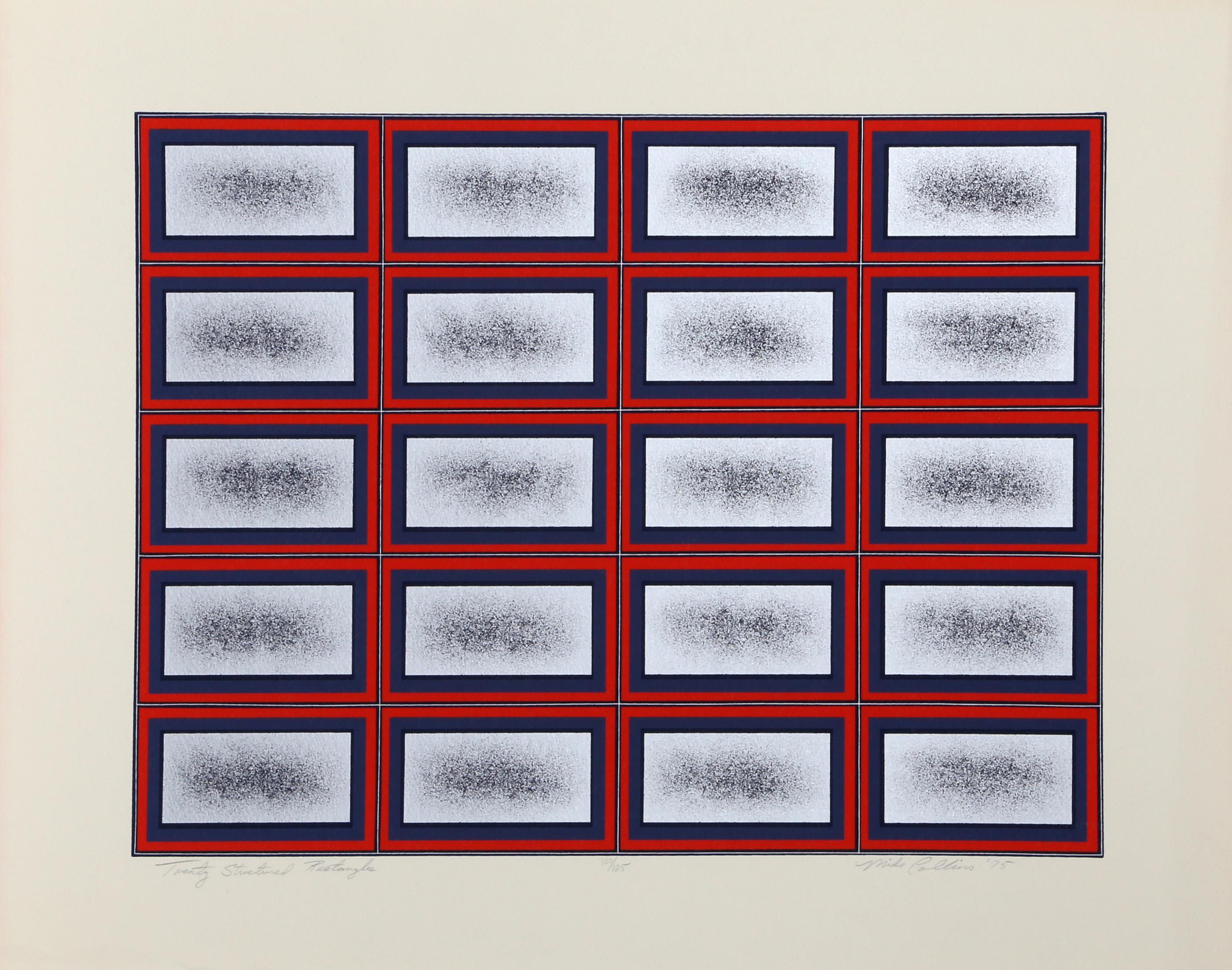 Mike Collins, Twenty Structured Rectangles, Screenprint
