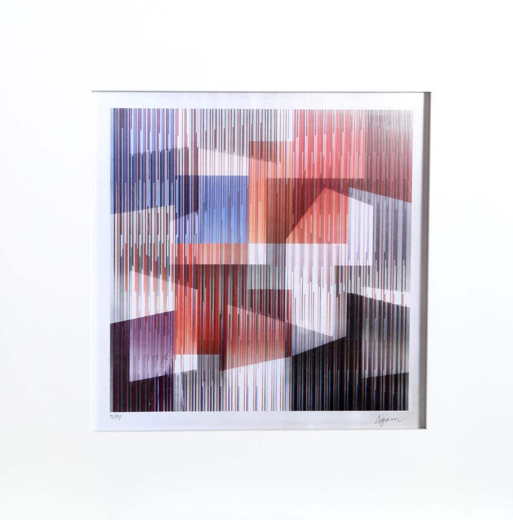Yaacov Agam, Untitled IV, Agamograph