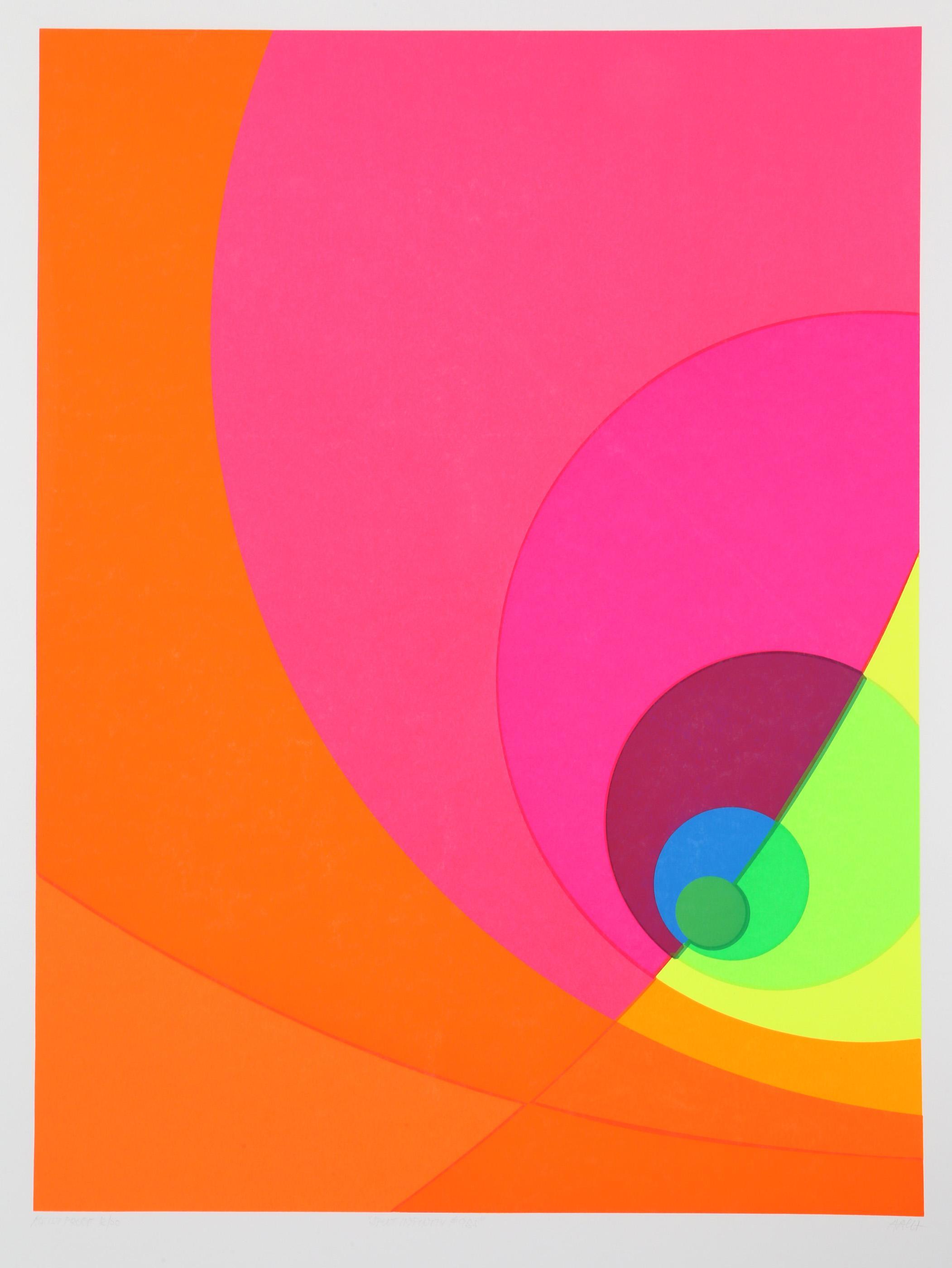 Herbert Aach, Split Infinity #9BS, Screenprint