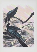 """SUSAN HALL /""""DESERT ROSES/"""" 1980 Hand Signed Limited Edition Fine Art Lithograph"""