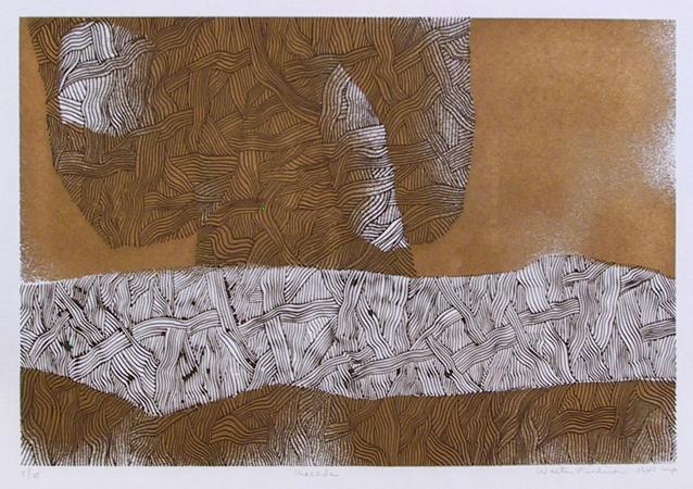 Walter Feldman, Masada 4, Woodcut