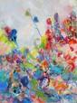 Isabel Gamerov, The Flower Garden, Oil Painting, Isabel Gamerov, Click for value