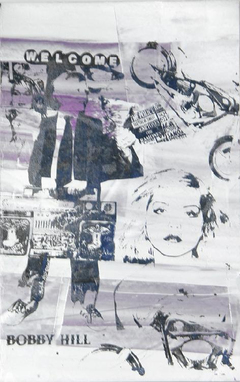 Bobby Hill, Blondie, Silkscreen and Acrylic Painting