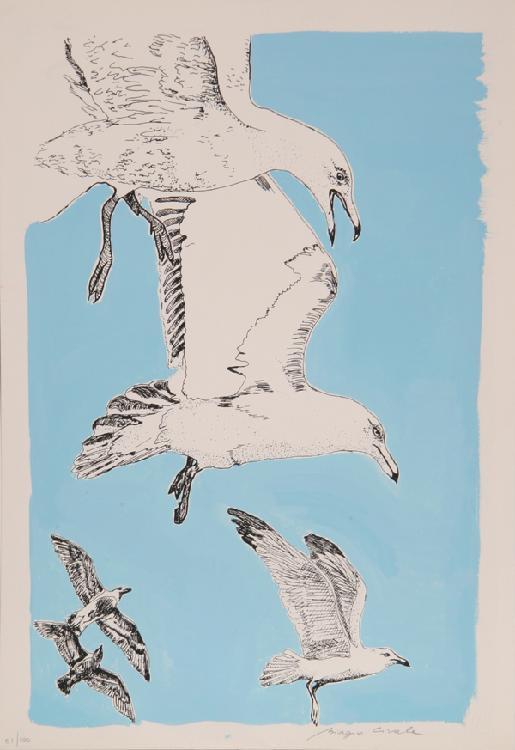 Biagio Civale, Birds (Retouche), Serigraph