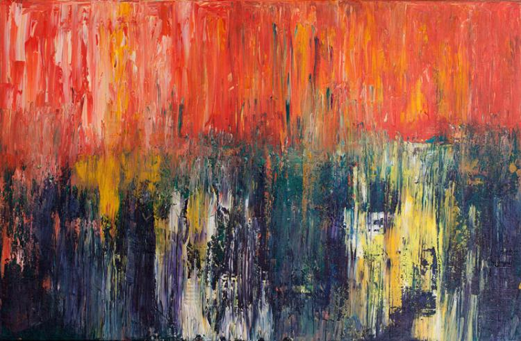 Polly Perruchot, Hot Forest, Painting