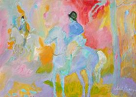 Isabel Gamerov, Riding in the Park, Oil Painting