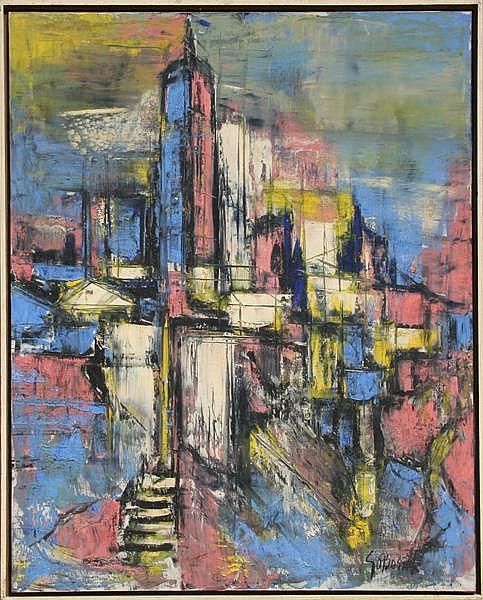 Stanley Sobossek, New York City, Oil Painting