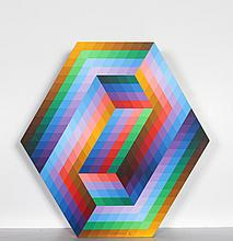Victor Vasarely, Kedzi, Painted Wood Sculpture