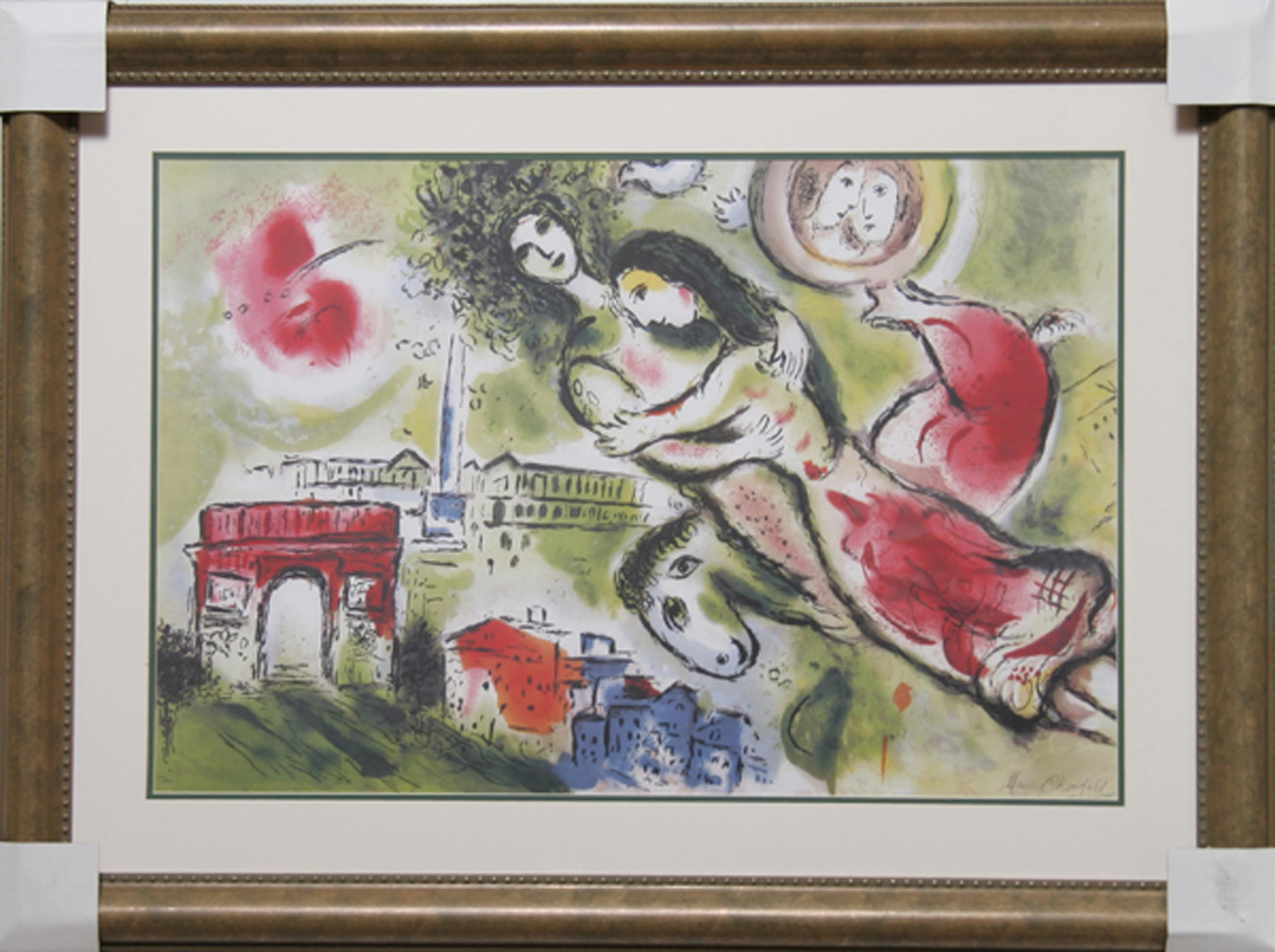 """MARC CHAGALL /""""ROMEO and JULIET/"""" Signed Numbered Lithograph Art"""