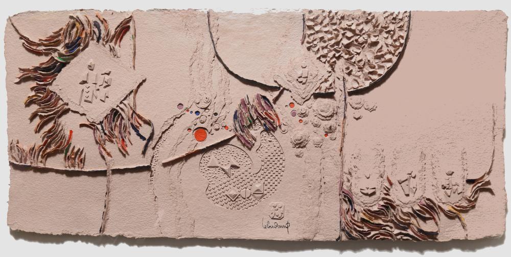 Lebadang (aka Hoi), Paysage, Cast Paper Sculpture in Plexi-Box