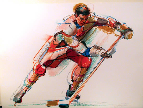 Jim Jonson, Hockey Player, Lithograph