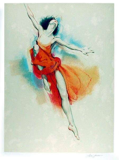 Jim Jonson, Ballet #2, Lithograph