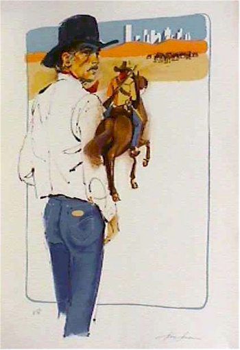 Jim Jonson, Cowboy, Lithograph
