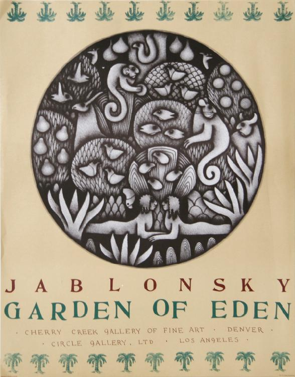 Carol Jablonsky, Garden of Eden - Cherry Creek Gallery, Poster
