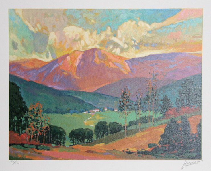 Max Hayslette, Sunrise Suite II, Lithograph