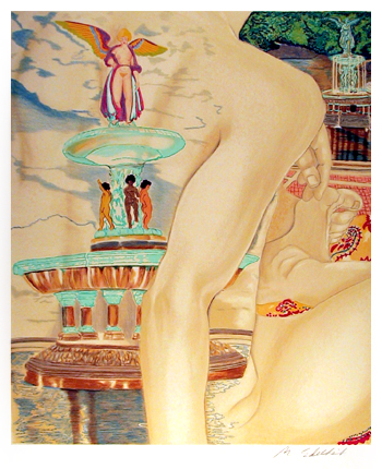 Martha Edelheit, Fountain, Lithograph