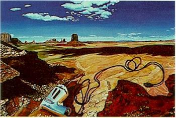 Martha Edelheit, Tool in Landscape, Lithograph