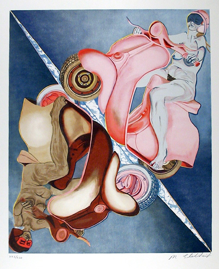 Martha Edelheit, Flesh Cycle, Lithograph