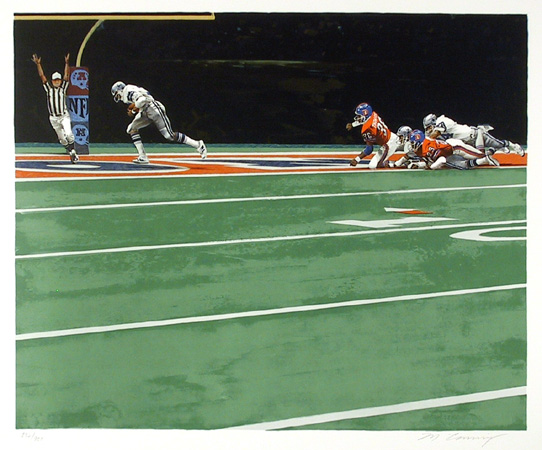 Merv Corning, NFL-Super Bowl XII, Lithograph