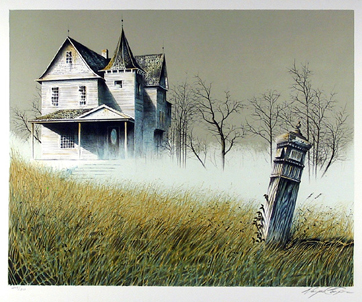 Wayne Cooper, Haunted House, Lithograph