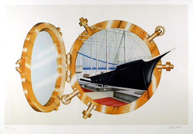 Carmen Console, Ship Ahoy, Lithograph