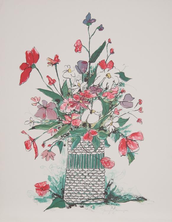 Jennifer Bennington, Spring Flowers, Lithograph