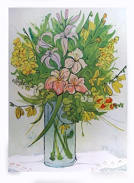 Jennifer Bennington, Summer Flowers, Lithograph