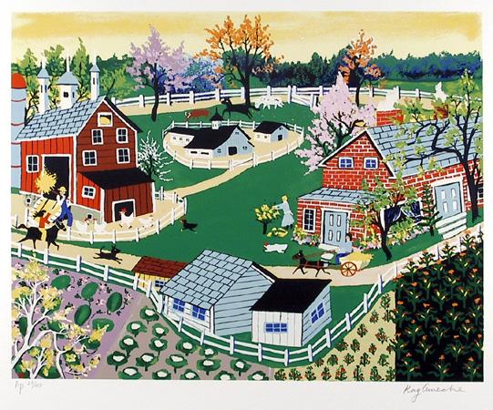 Kay Ameche, Eisenhower Farm at Gettysburg, Serigraph