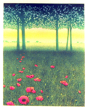 Daniel Sciora, Spring Meadow, Lithograph