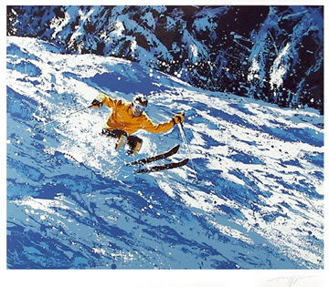 Harry Schaare, Skiier, Serigraph