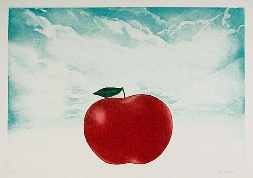 Hank Laventhol, Red Apple, Aquatint Etching