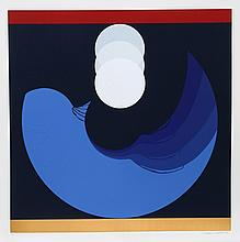 Thomas W. Benton, Evolution Series Blue, Silkscreen