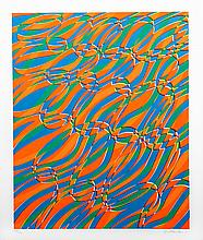 Stanley Hayter, Op-Art Abstract 2, from the Aquarius Suite, Silkscreen