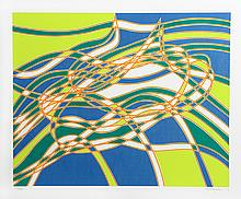 Stanley Hayter, Op-Art Abstract 3, from the Aquarius Suite, Silkscreen