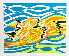 Stanley Hayter, Op-Art Abstract 4, from the Aquarius Suite, Silkscreen