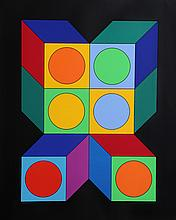Victor Vasarely, VY-29-A from Album Xico, Serigraph