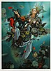 Israel Rubinstein, Goddess of the Sea - Nymph, Serigraph, Israel Rubinstein, Click for value