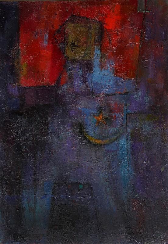 Miriam Bromberg, Cubist Purple Nude, Oil Painting