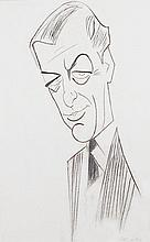 Julius Kroll, Rex Harrison, Charcoal and Pastel Drawing