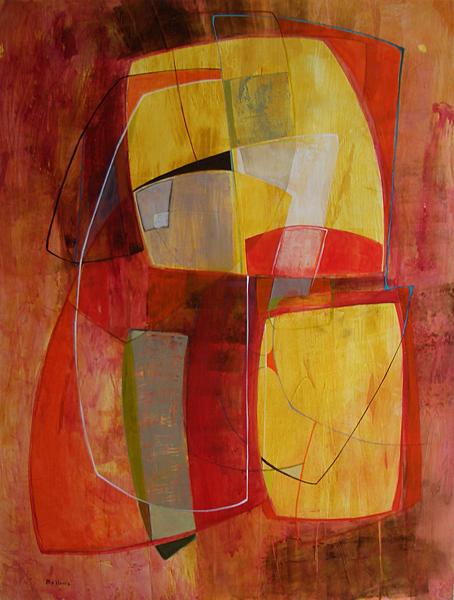 Sara Abbott, Modern Space III, Acrylic Painting
