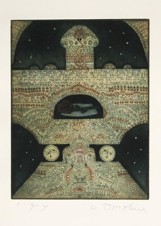 Tighe O'Donoghue, The Shrine, Aquatint Etching