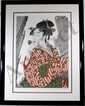 Michael Knigin, Woman Playing a Poppin (After Utamaro), Serigraph, Michael Knigin, Click for value