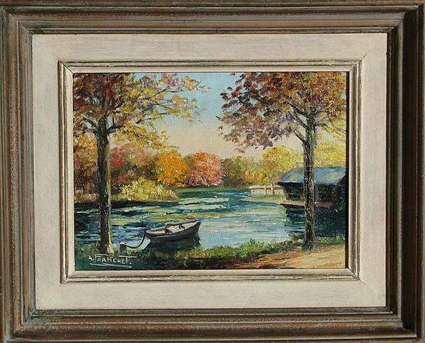 Andre Franchet, L'Essone en Automne, Oil Painting