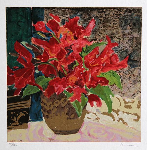 Ellen Gunn,  Red Canna Lily, Silkscreen