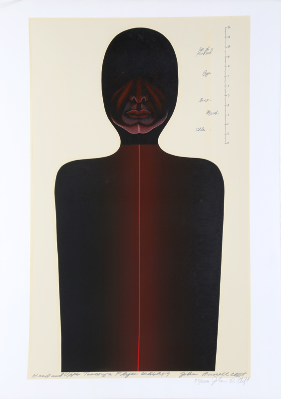 John Russell Clift, Head and Upper Torso for a Flyer Whirligig (No One B), Serigraph